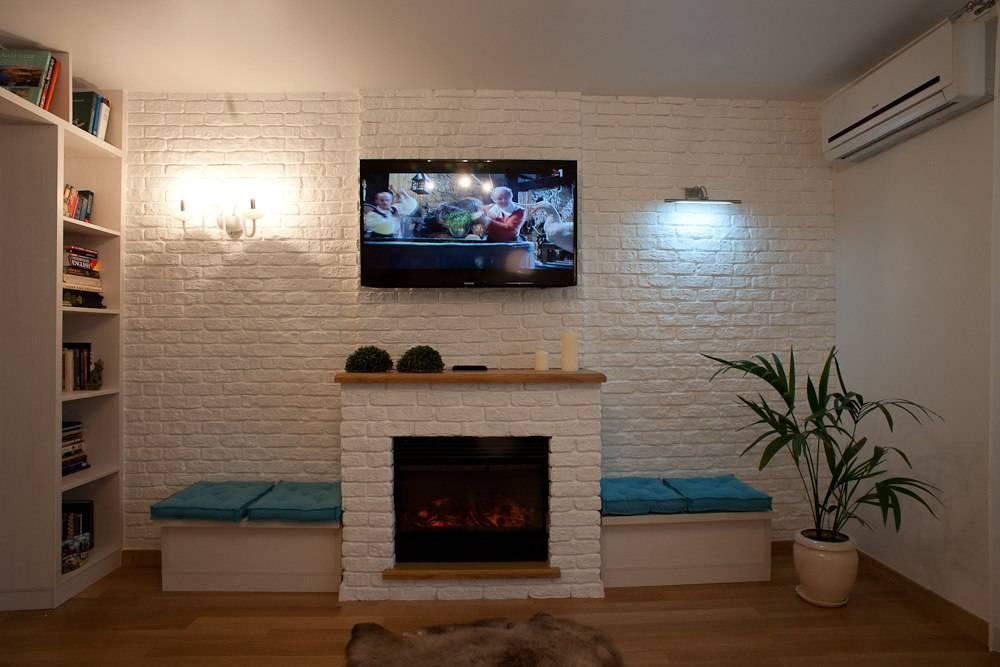 Варианты отделки интерьера квартиры под декоративный кирпич