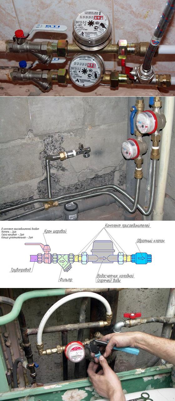 Установка счетчиков воды в квартире своими руками
