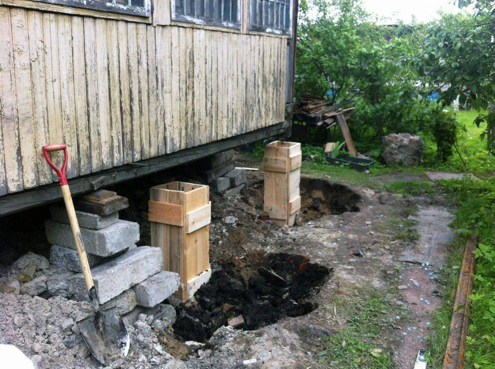 Ремонт фундамента деревянного дома своими руками