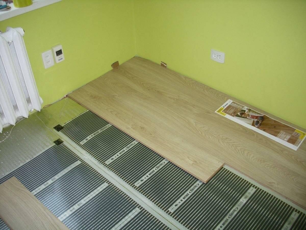 Пленочный теплый пол под плитку своими руками - инструкции!