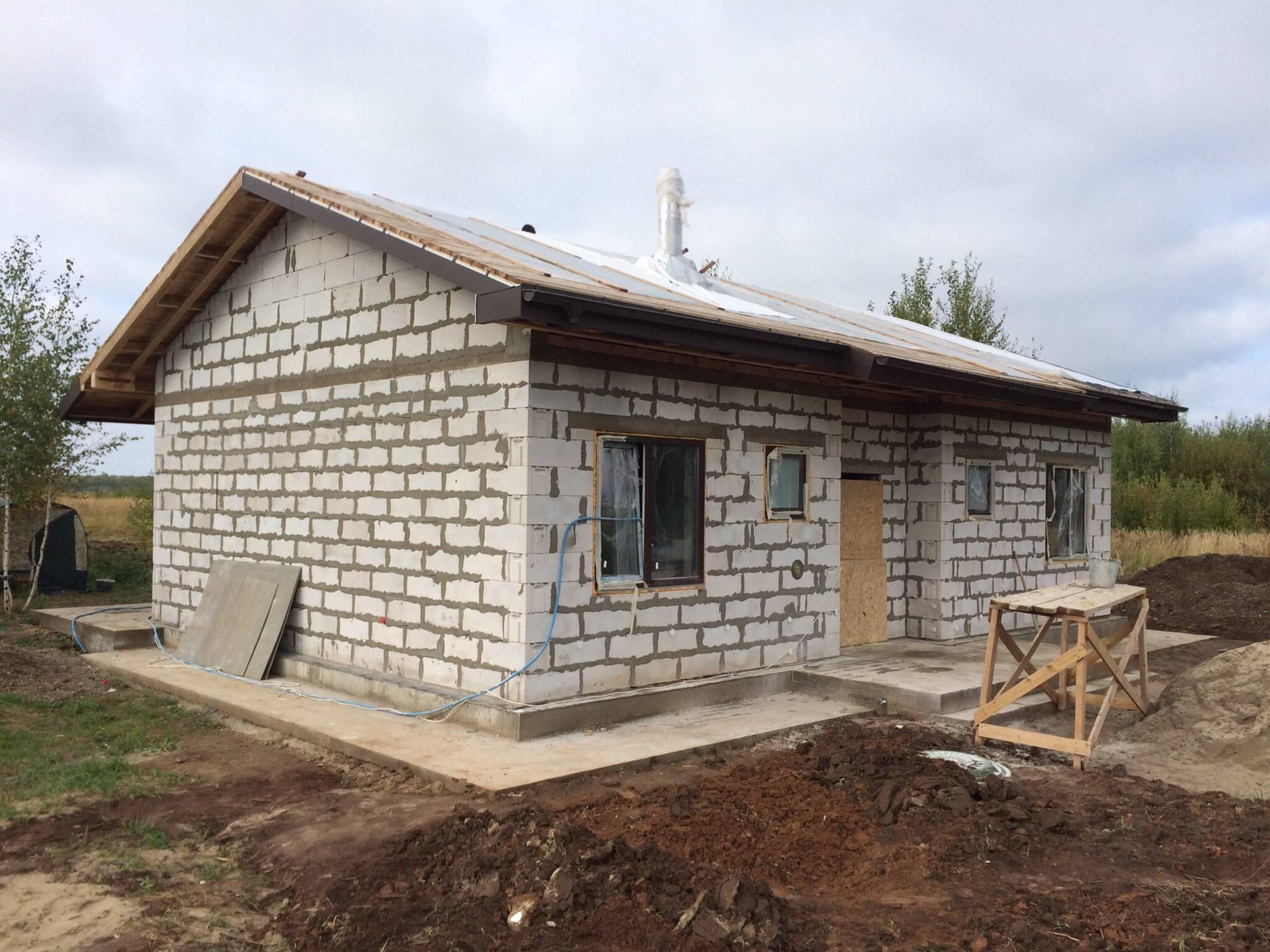 Постройка одноэтажных домов из пеноблоков