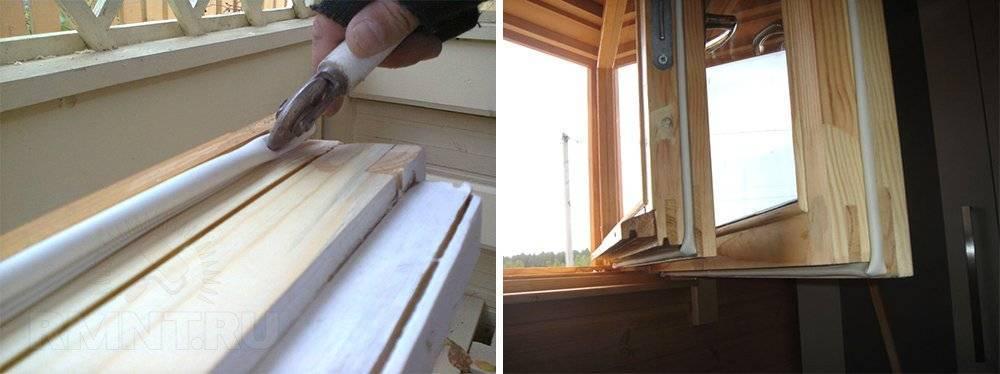 Утепление деревянных окон на зиму своими руками