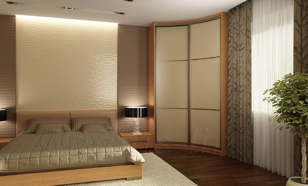 Шкаф-купе в спальню: экономичный и вместительный +75 фото