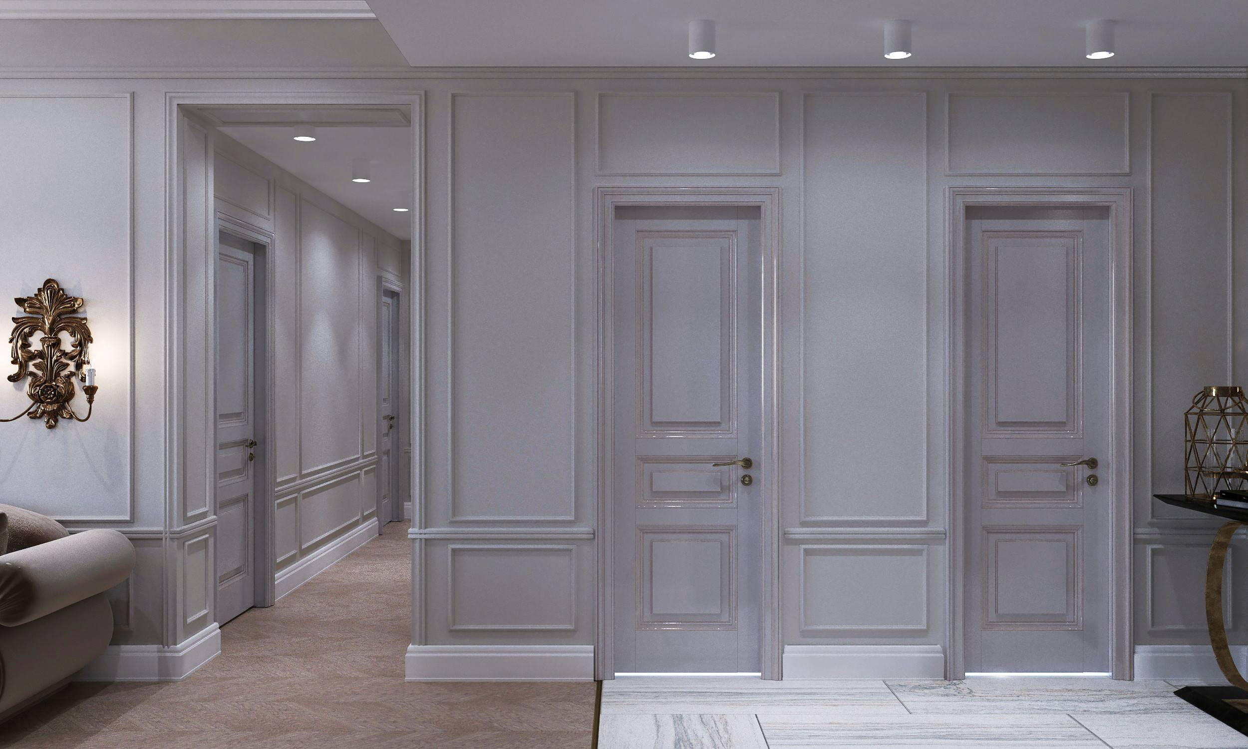 Как украсить стены квартиры молдингами