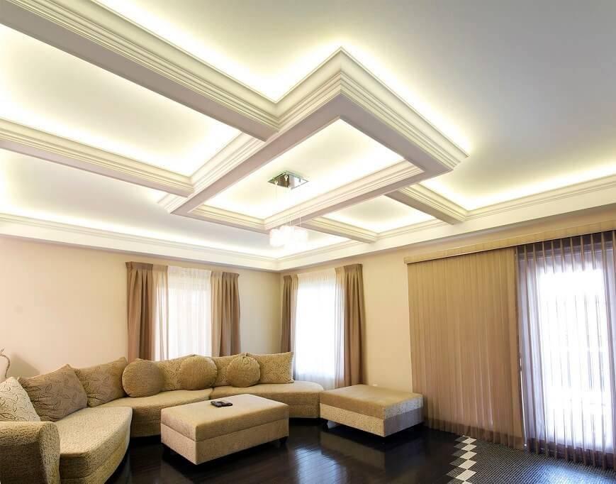 Потолок из гипсокартона: особенности конструкции и варианты дизайнерской отделки (80 фото-идей)