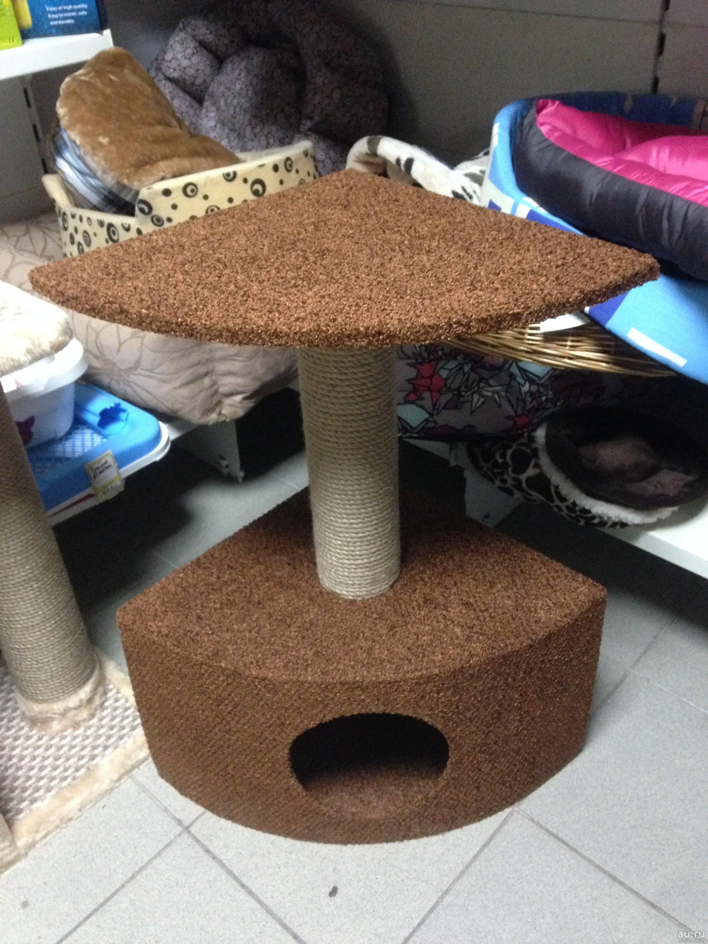 100 самых уютных идей: домик для кота своими руками на фото