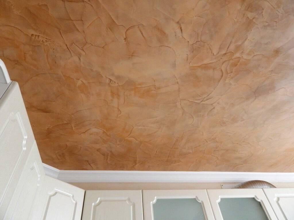 Декоративная штукатурка для отделки потолка