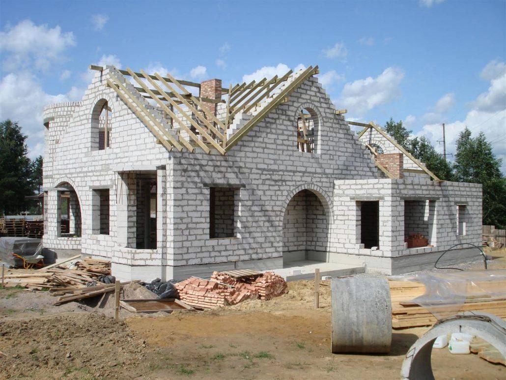 Одноэтажный дом из газобетона - проекты домов из газоблока