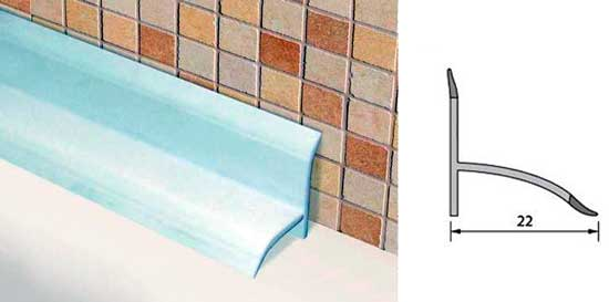 Бордюр для ванны: виды, советы по выбору, монтажные инструкции
