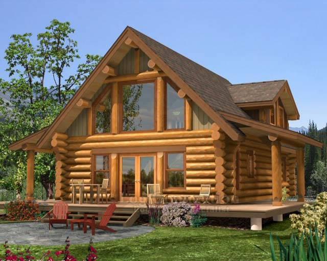 Проекты домов из оцилиндрованного с мансардой. дома из бревна с мансардой: виды и преимущества