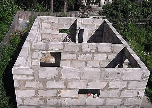 Дом из шлакоблока: преимущества, этапы строительства - фото, видео