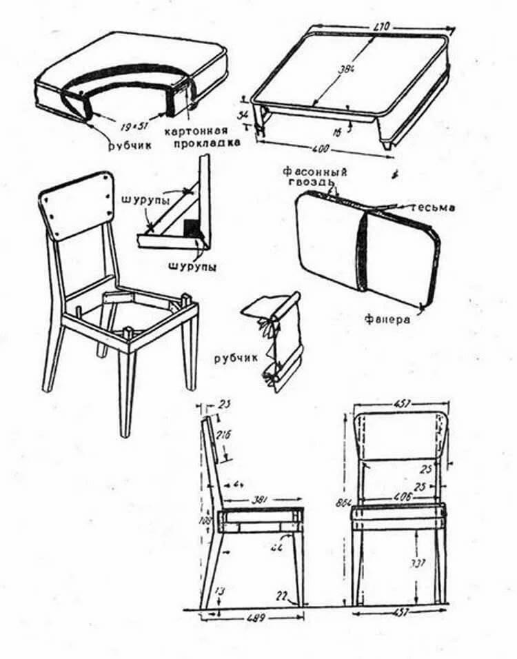 Ткань для обивки стульев: накидки своими руками, как обшить стул дермантином