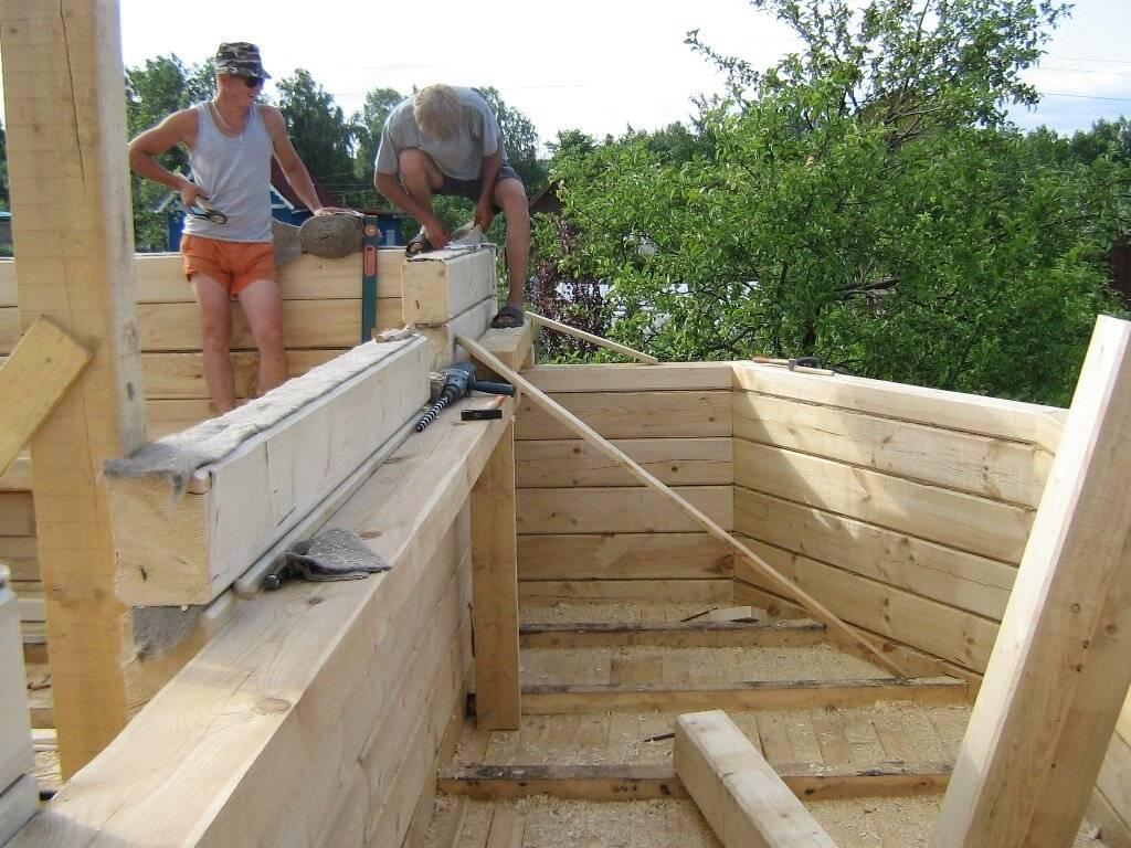 Как построить в одиночку бюджетный дом из бруса: антикризисное решение   личный опыт (огород.ru)