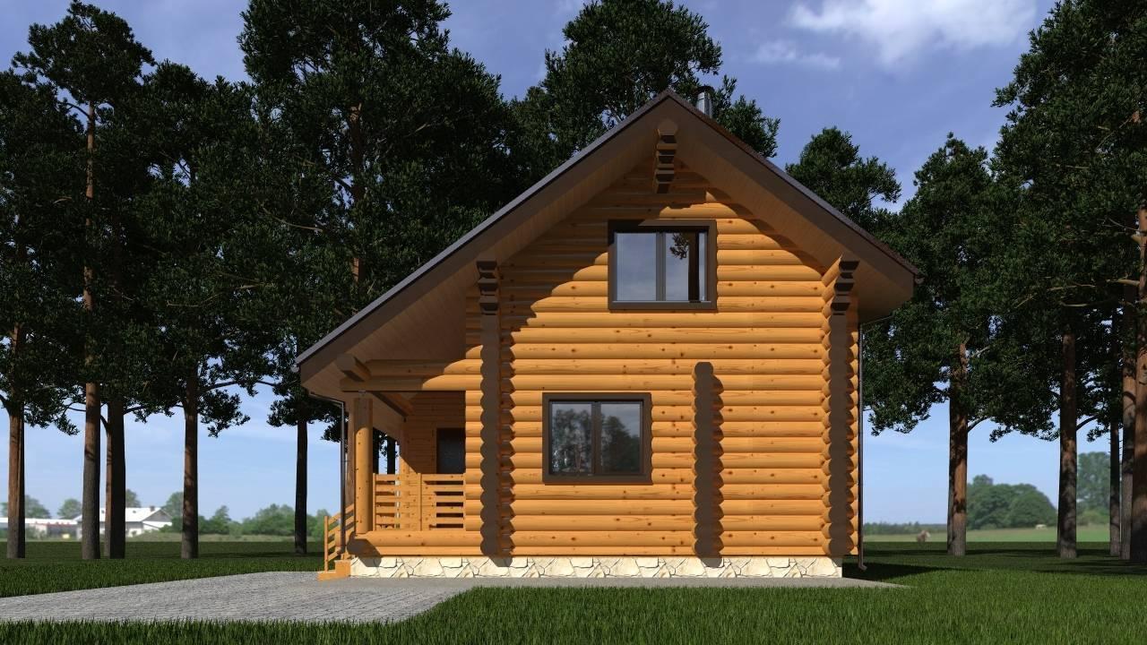 Дома из бревна - интересные особенности конструкций и отделки