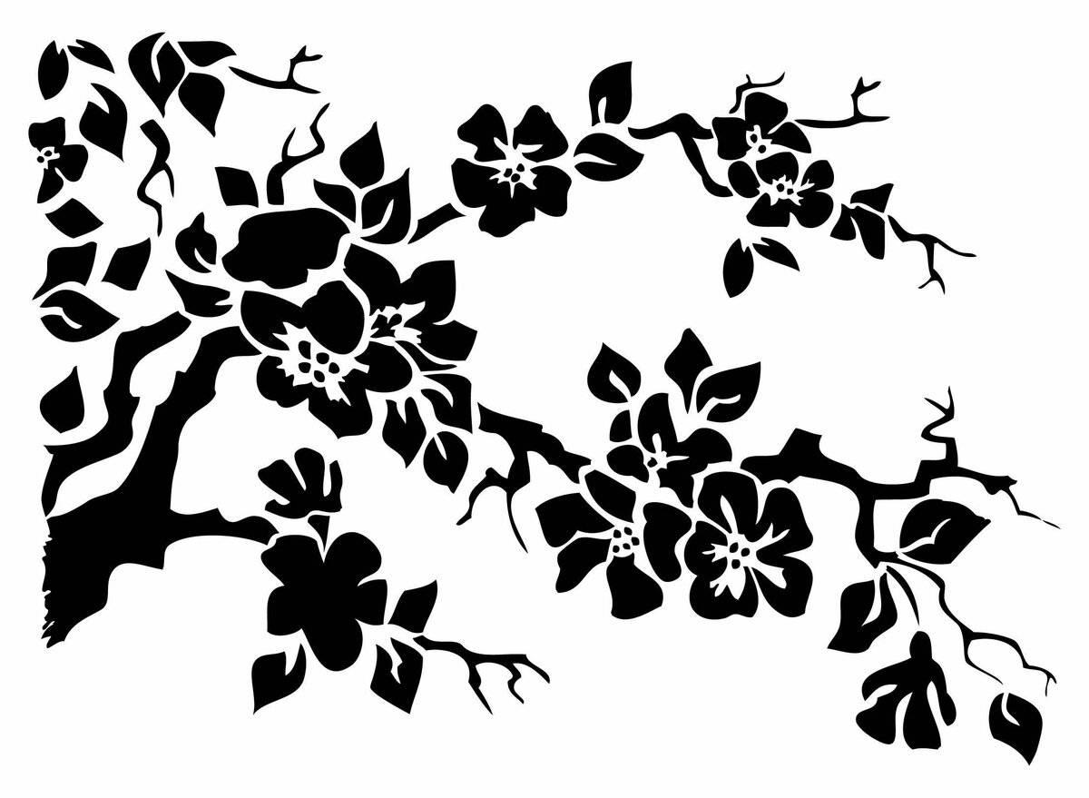Трафареты для декора: 105 фото вариантов применения украшения интерьера