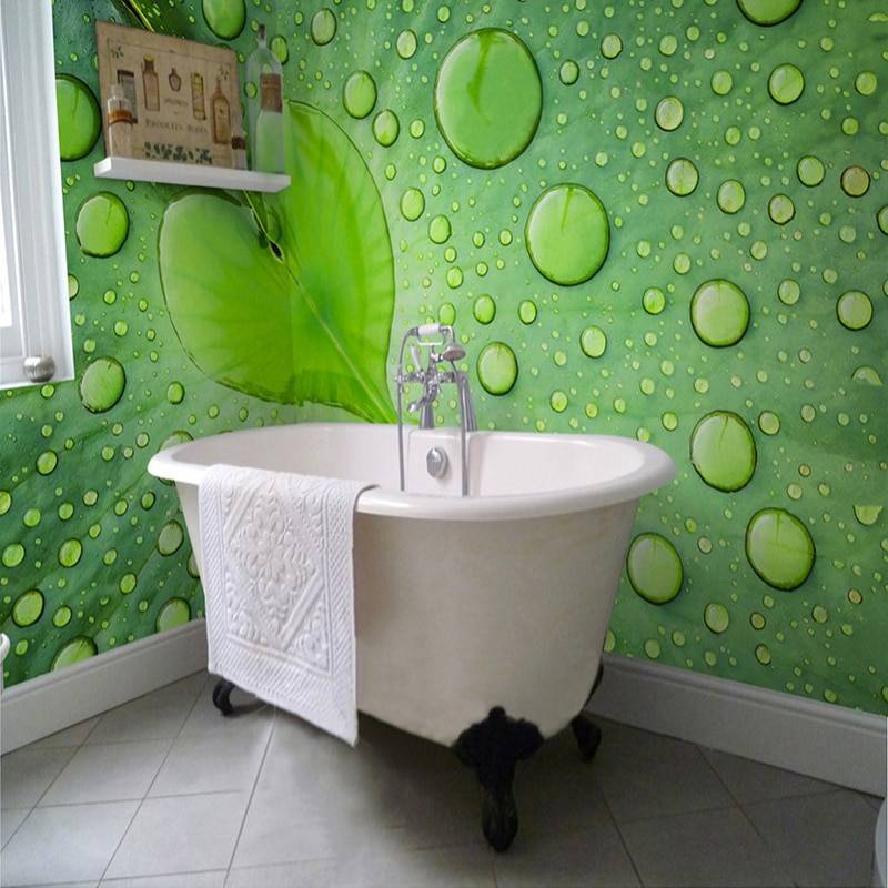 Обои для ванной комнаты: какие виды подойдут (фото)   дом мечты