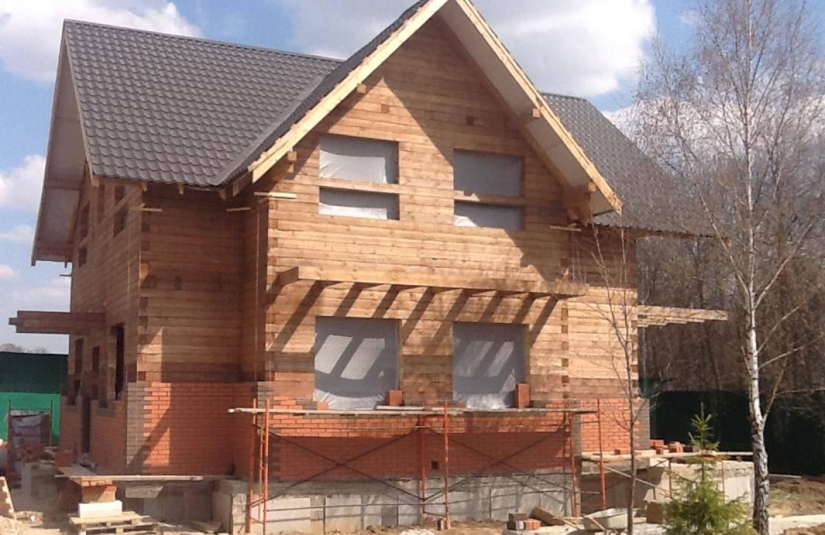 Кирпичная облицовка для деревянного дома