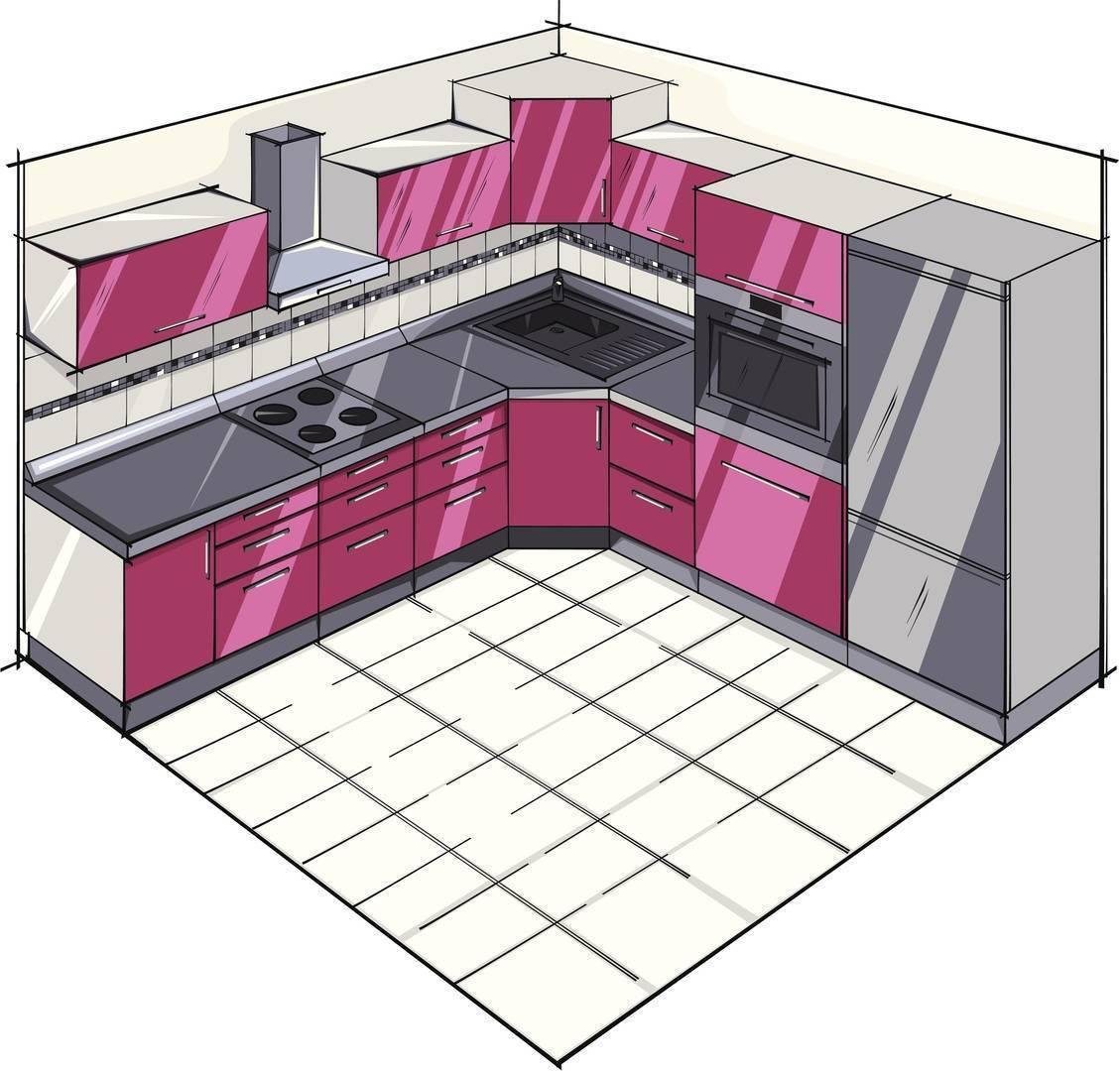 Планировка кухни: дизайн своими руками