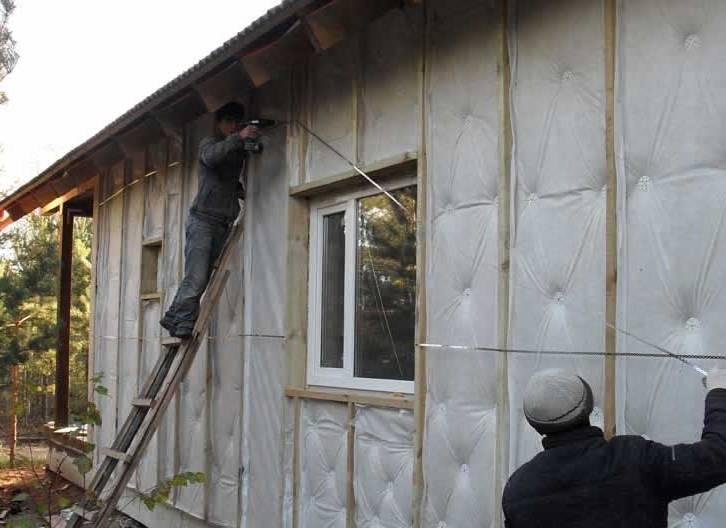 Инструкция по утеплению стен каркасного дома