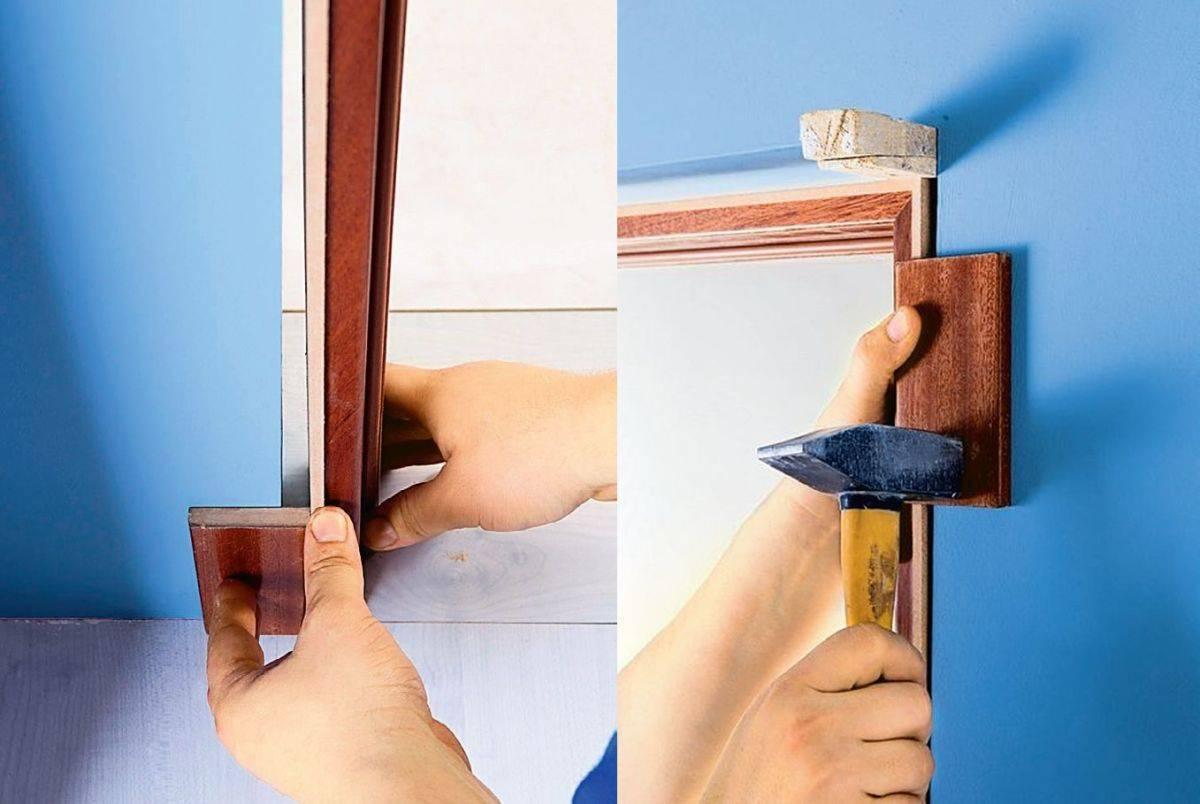 Установка межкомнатных дверей своими руками, инструкция
