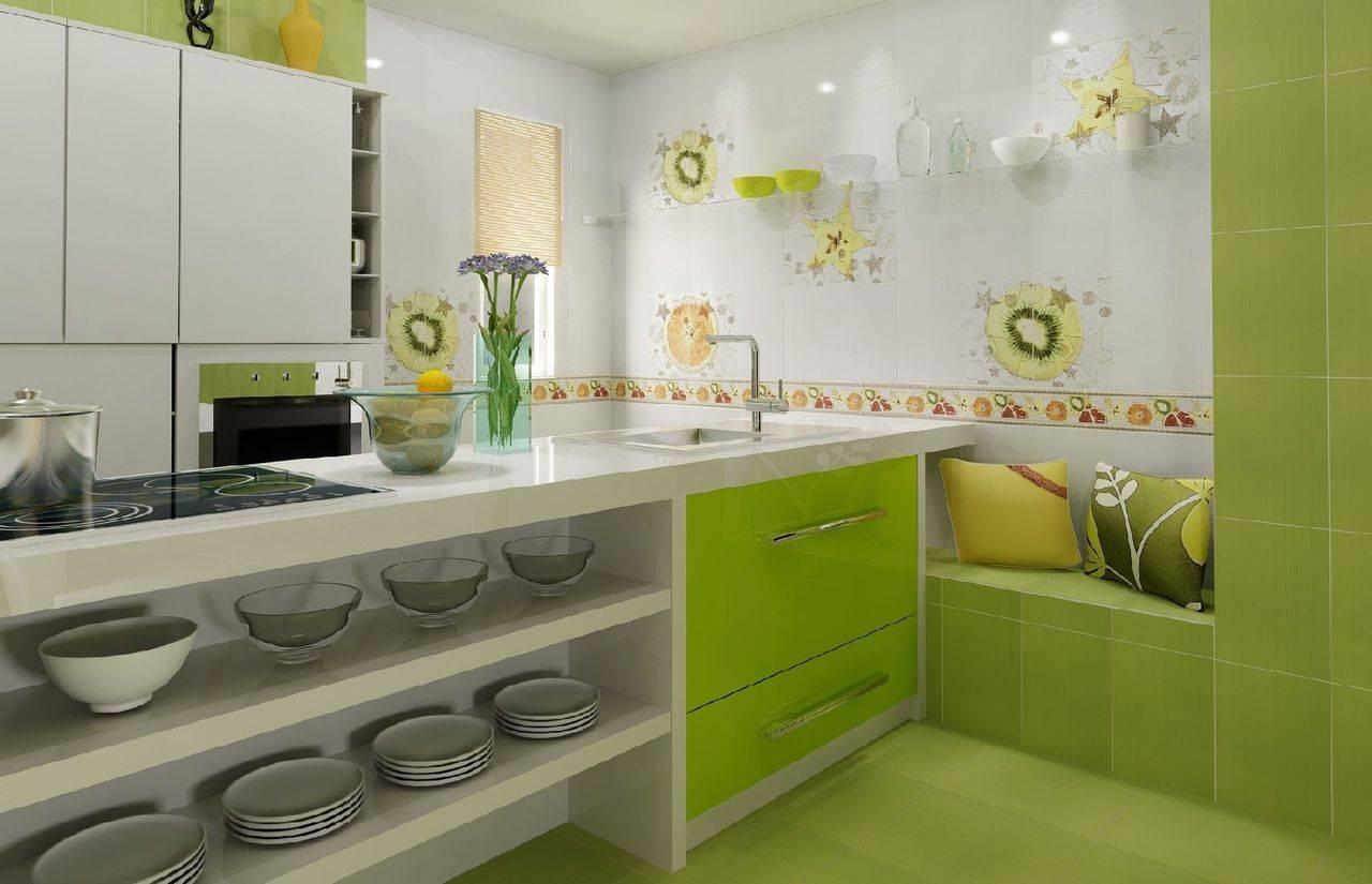 Дизайнерские решения кухни в зелёных тонах – сочетания цветов в интерьере