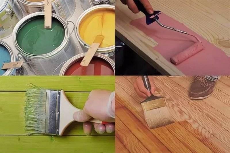 Особенности окраски деревянных поверхностей