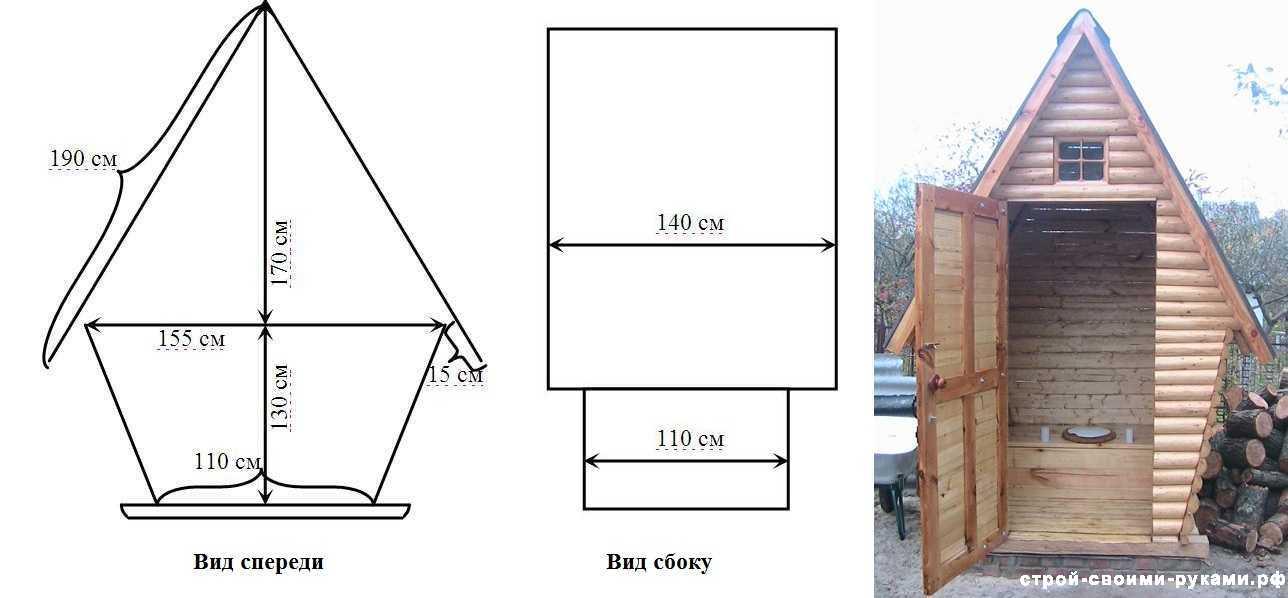 Туалет своими руками размеры, дачный туалет пошаговая инструкция
