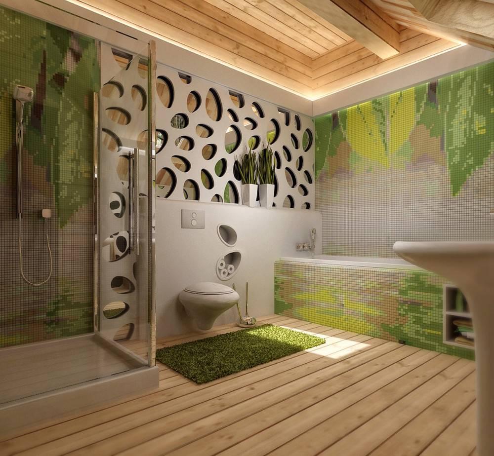 Декор ванной комнаты - примеры, рекомендации +60 фото