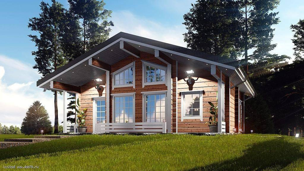 Дома из двойного бруса: технология строительства, отзывы, проекты