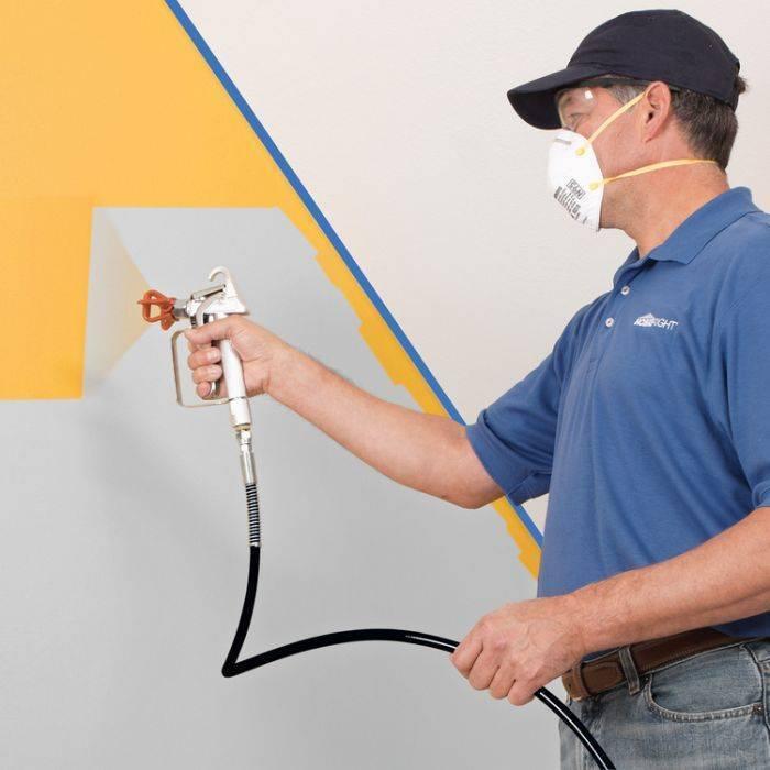 Краскопульты для покраски стен и потолков: выбор и техника окрашивания
