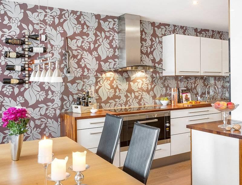 Дизайн обоев для кухни: 78 фото идей для современных интерьеров