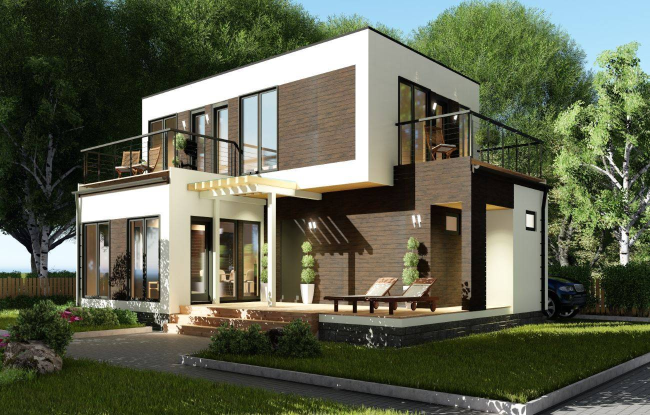 Дом в стиле хай тек: готовые и типовые архитектуры, проекты и идеи для стильного дизайна (105 фото)