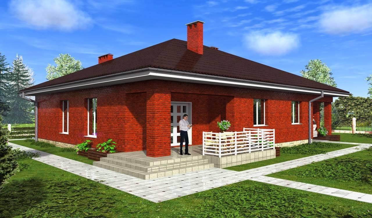 Топ 10 проектов одноэтажных домов из кирпича | строительный блог вити петрова