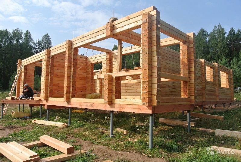 Какой фундамент нужен для дома из бревна