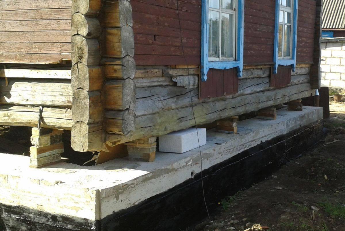 Ремонт фундамента деревянного дома