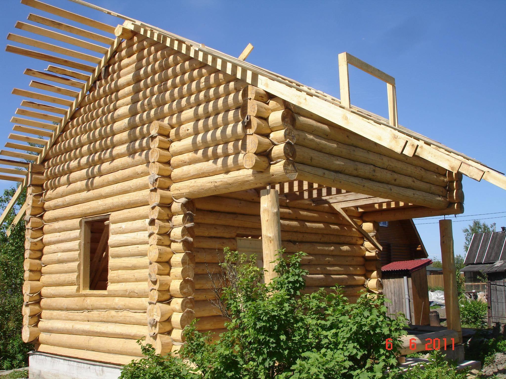 Дома из бревна - строительство и проекты