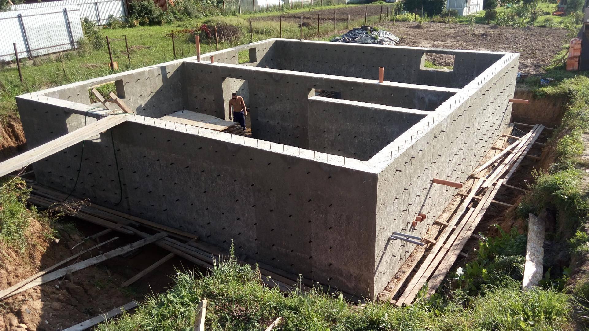 Фундамент для дома из кирпича с цокольным этажом своими руками + фото