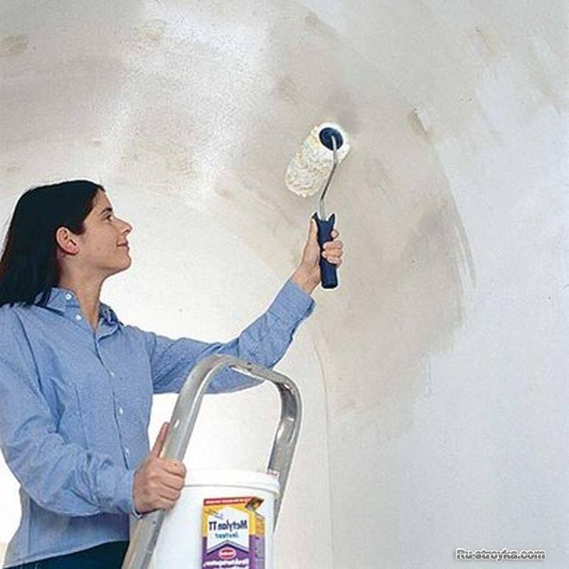 Какую краску выбрать для потолка из гипсокартона на кухне