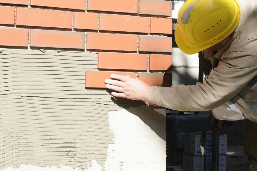 Как провести облицовку фасада клинкерной плиткой - особенности технологии
