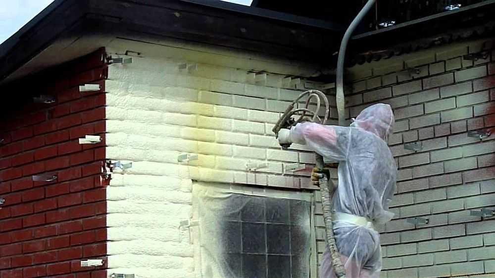 Утепление стен пенополиуретаном в москве