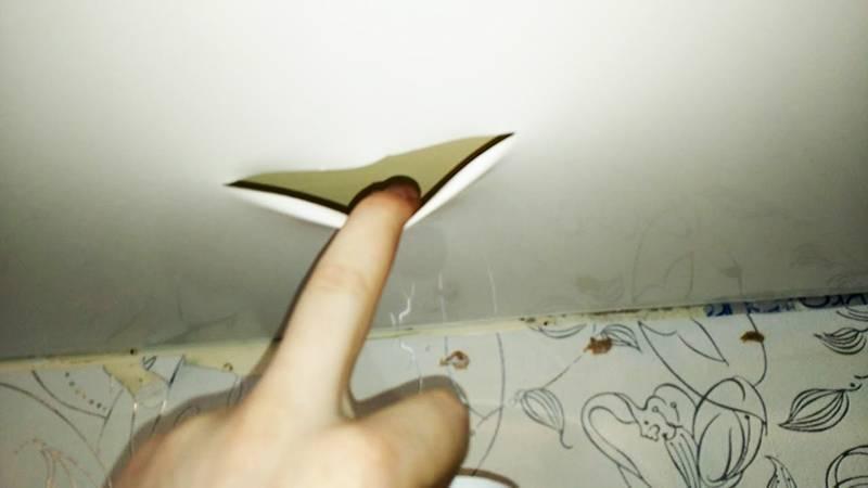 Как заклеить натяжной потолок после пореза - всё о ремонте потолка