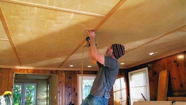 Потолок из дсп в деревянном доме