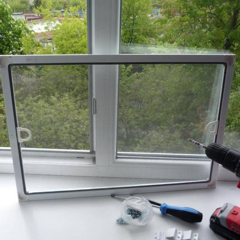 Как установить москитную сетку на окно своими руками