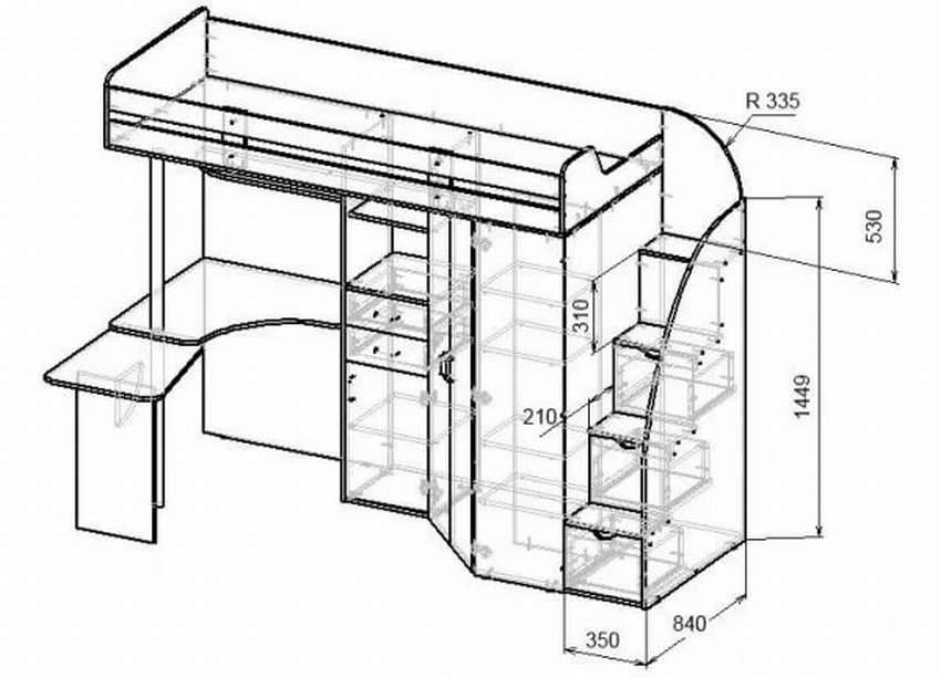 Спальня и кабинет в одном флаконе: 13 обаятельных интерьеров с кроватью-чердаком