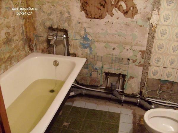 Как правильно сделать разводку труб в ванной и туалете