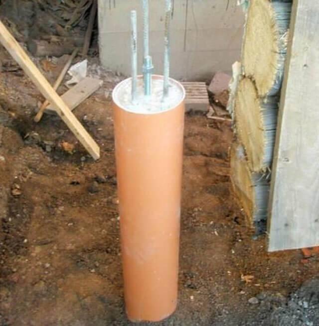 Фундамент из асбоцементных труб своими руками - строитель