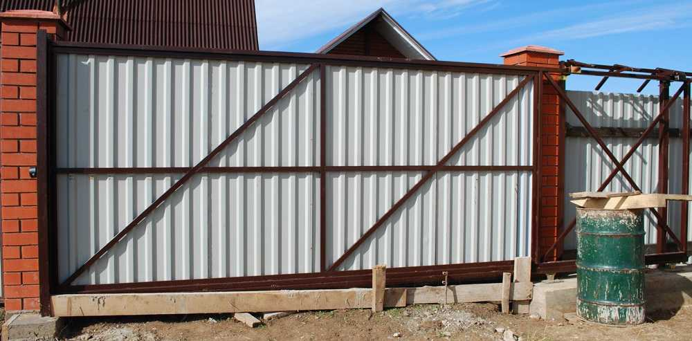 Как сделать откатные ворота: чертежи, схемы, современные проекты и поэтапное описание как построить откатные ворота (120 фото и видео)