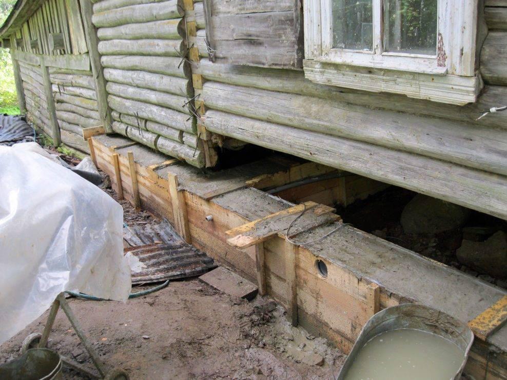 Как осуществить ремонт фундамента деревянного дома