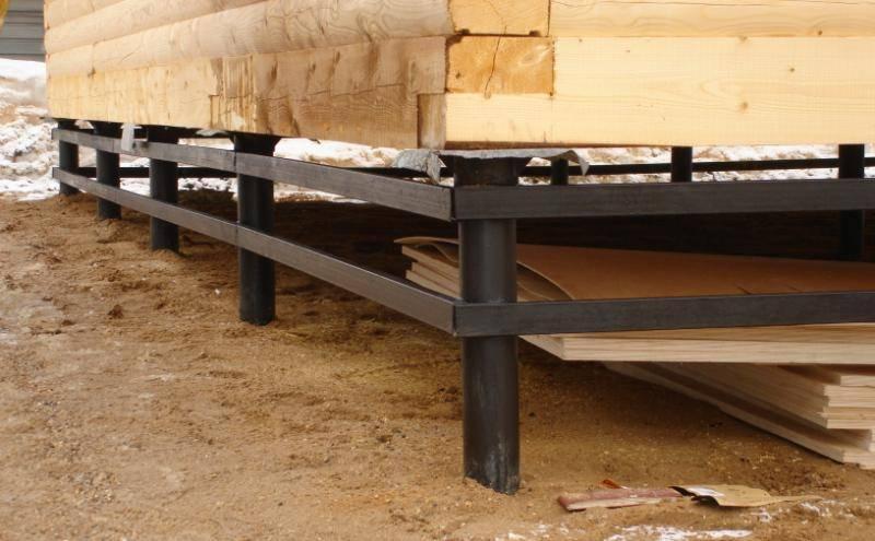 Обвязка винтовых свай деревянным брусом: важные моменты