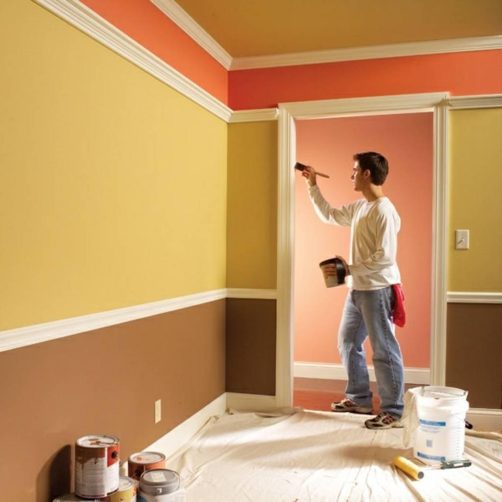 Покраска потолка: как и чем покрасить своими руками +50 фото